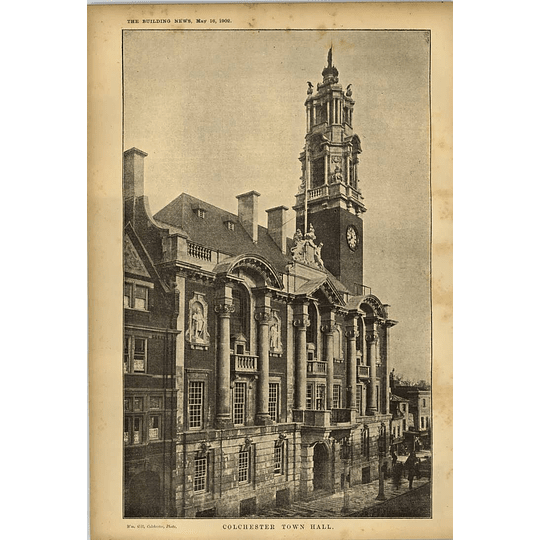 1902 Colchester Townhall View
