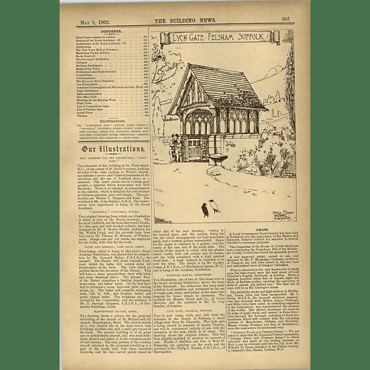 1902 Lych Gate Fellsham Suffolk Philip Turner Architect