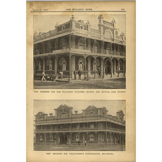 1902 New Premises Bulawayo Building Society Willoughby Consolidated