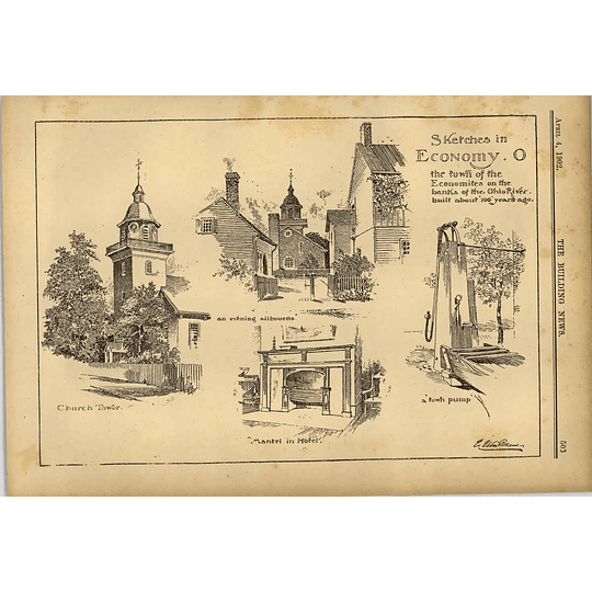 1902 Sketches In Economy O Banks Of Ohio River