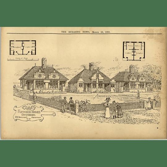 1902 The Fletcher Homes In Dewsbury Ew Ridgeway Architect