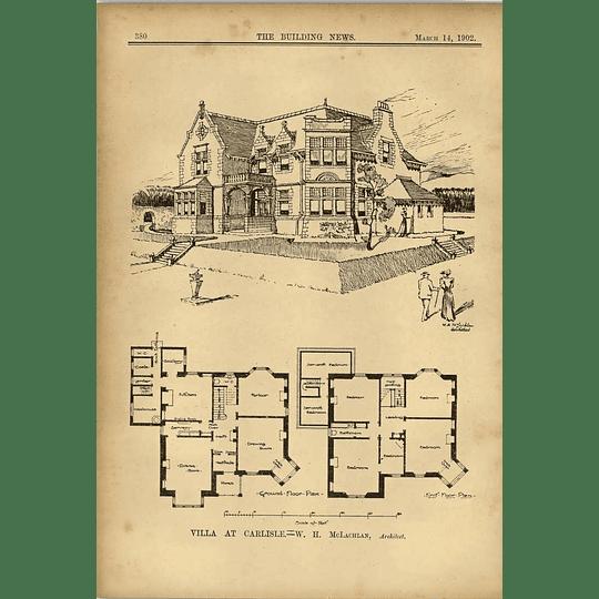 1902 Villa At Carlisle Wh Mclachlan Architect