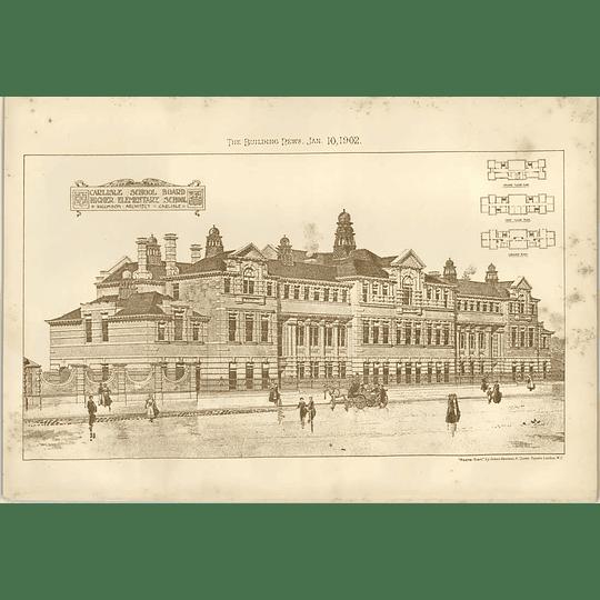 1902 Carlisle School Board Higher Elementary School Higginson Architect