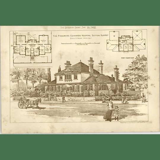 1902 Passmore Edwards Hospital Sutton Surrey Cecil Sharp Architect