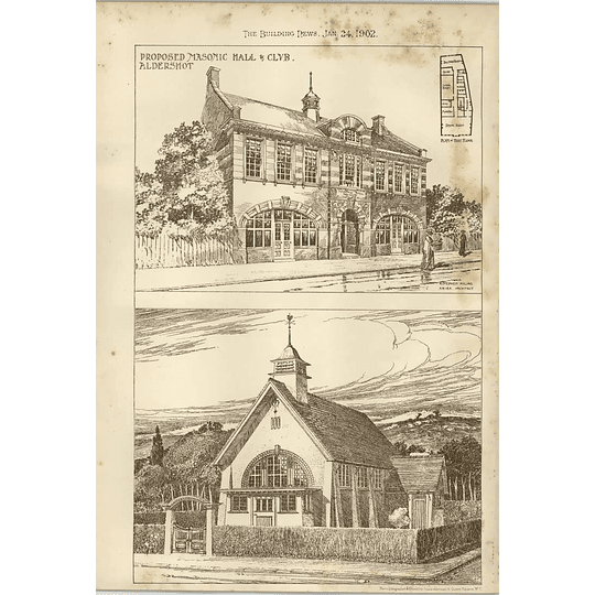 1902 Proposed Masonic Hall And Club Aldershot Stephen Ayling Architect