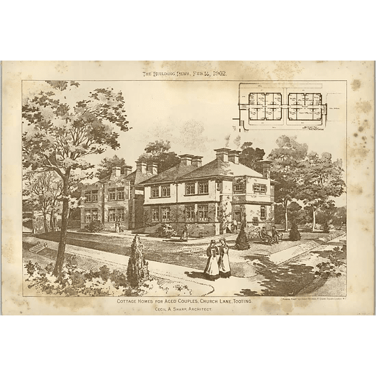 1902 Cottage Homes For Aged Couples Church Lane Tooting Cecil Sharp