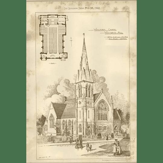 1902 Wesleyan Chapel Westgate Hill Walker Collinson Swan Arcade Bradford