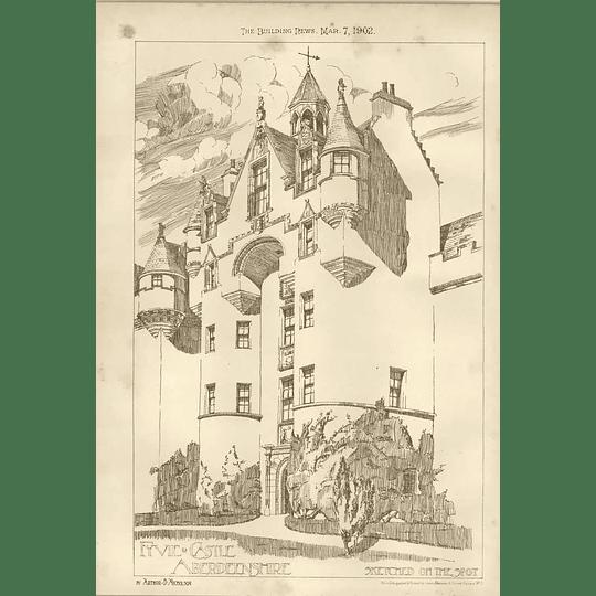 1902 Fyvie Castle Aberdeenshire Sketches On The Spot Arthur Nicholson