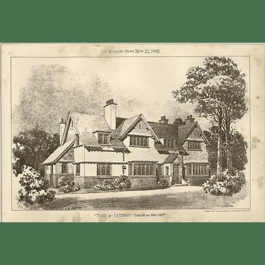 1902 House At Caterham Harrison Ward Architect