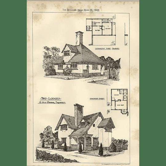 1902 Lodges Donnington Hurst And Kingswood Surrey Guy Dawber
