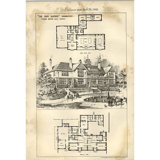 1902 The King Alfred Inn Vickerstown Moss Settle Architect