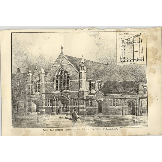 1902 South Bar District Congregational Church Lincoln Jh Cooper Architect