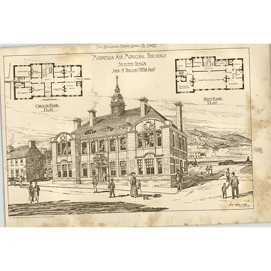 1902 Mountain Ash Municipal Buildings John Phillips Design Plan