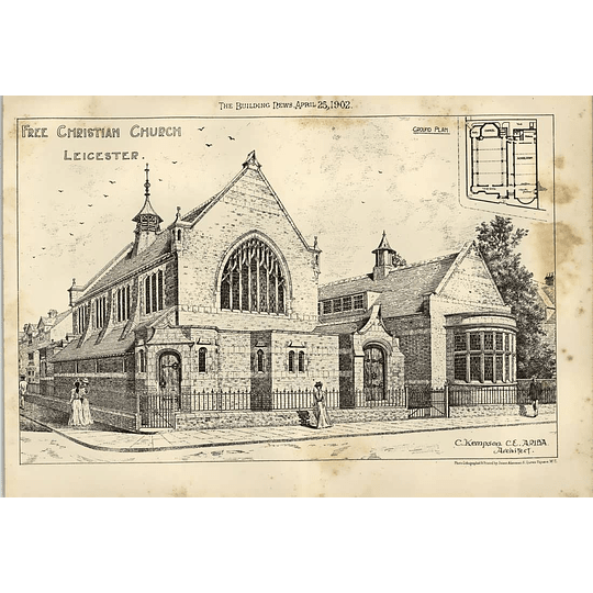 1902 Free Christian Church Leicester C Kempson Architect