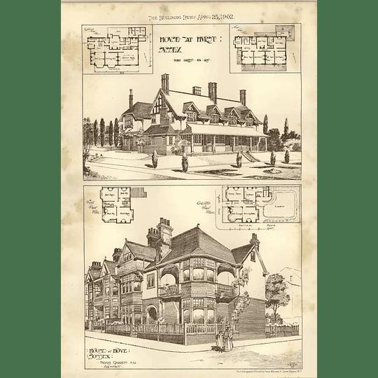 1902 House At Hurst Sussex And Hove Thomas Garrett Architect