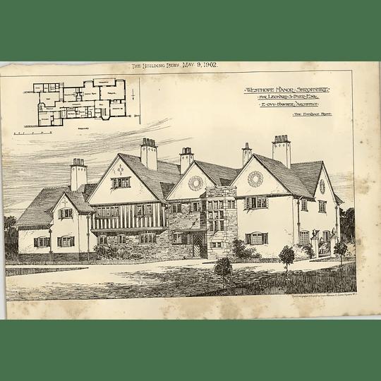1902 Westhope Manor Shropshire For Leonard Dyer Drawing Plan