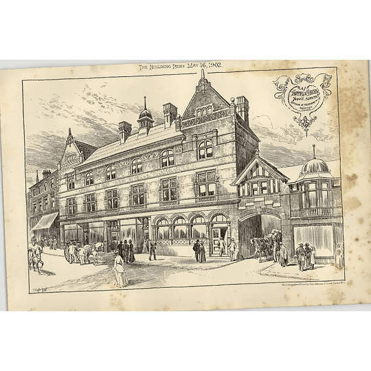 1902 Hotel And Shop Yeovil Somerset Arthur Yeomans Architect