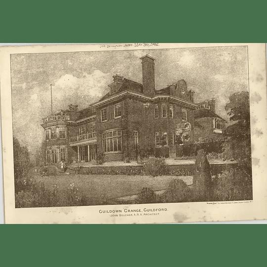 1902 Guildown Grange Guildford John Belcher Architect