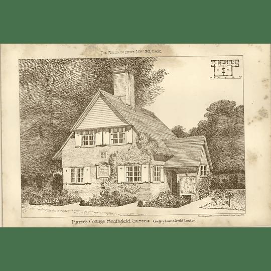 1902 Nurses Cottage Heathfield Sussex Jeffrey Lucas Architect
