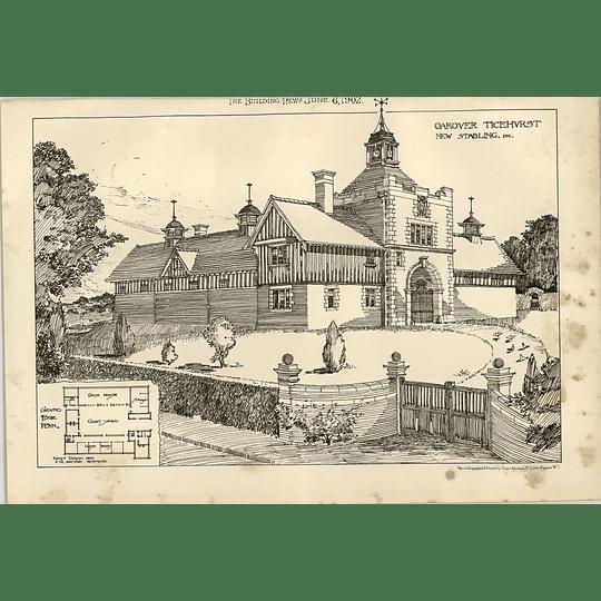 1902 Oakover Ticehurst New Stabling Etc Design Flanders