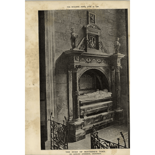 1902 The Duke Of Montrose Tomb Rowand Anderson Architect