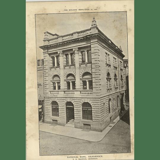 1902 National Bank Kilmarnock Tp Marwick Architect
