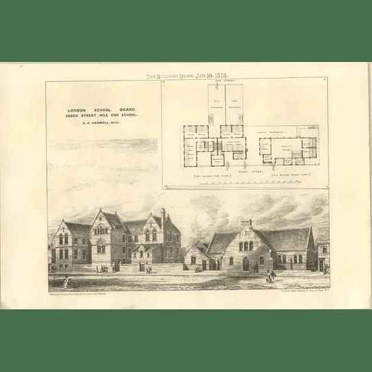1874 London School Board, Essex Street, Mile End School