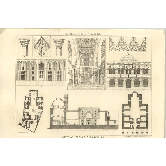 1874 Some Examples Of Egyptian Arabic Architecture
