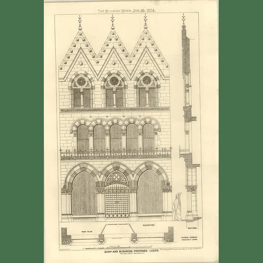 1874 Shop And Business Premises In Leeds, Harvey Reynolds