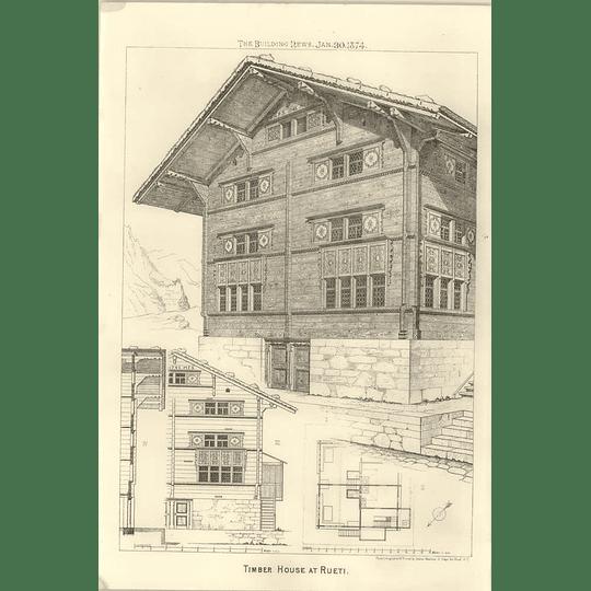 1874 Timber House At Rueti, Design, Plan