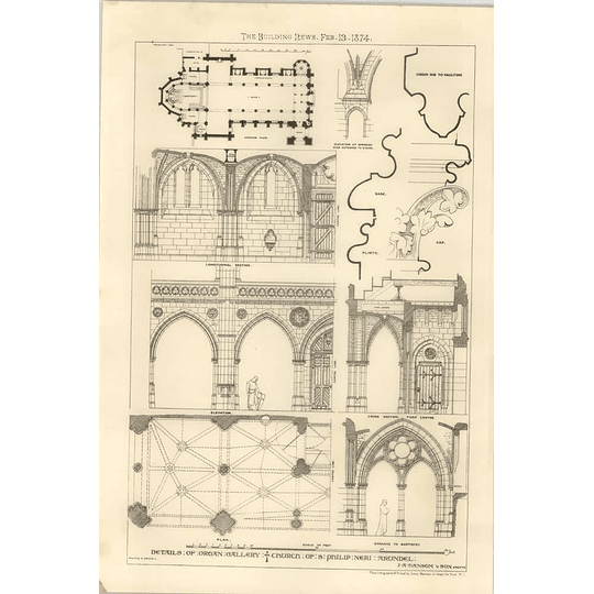 1874 Details Of Organ Gallery Church Of St Philip Neri Arundel