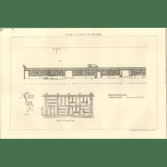 1874 Manoir D'ango, Timber Work, Design Sketch