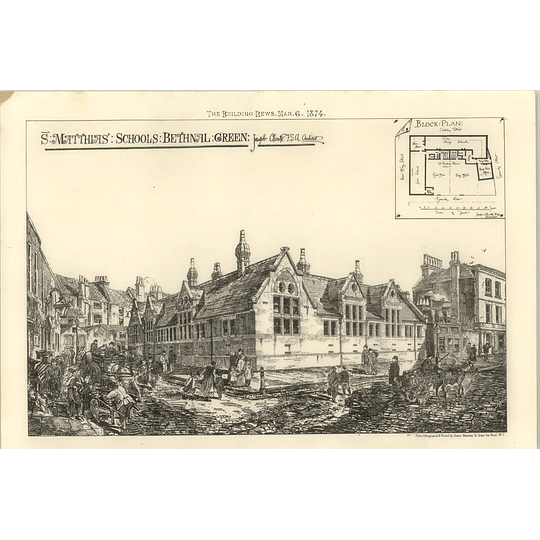 1874 St Matthias' Schools Bethnal Green Joseph Clarke Architect