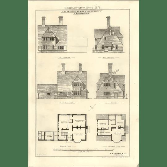 1874 Parsons House In Moorgreen, Nottingham Ew Godwin Architect