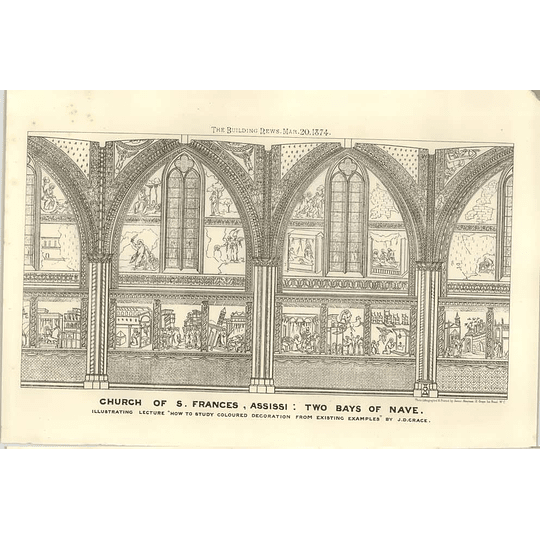 1874 Church Of St Francis ,assissi, Two Bays Of Nave