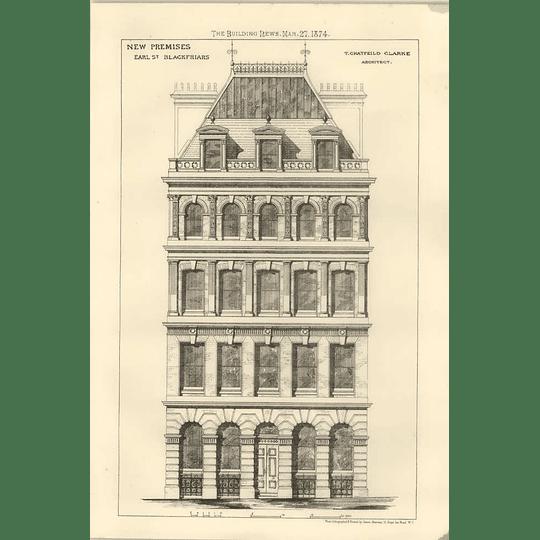 1874 New Promises Earl Street Blackfriars, Chatfield Clarke Architect