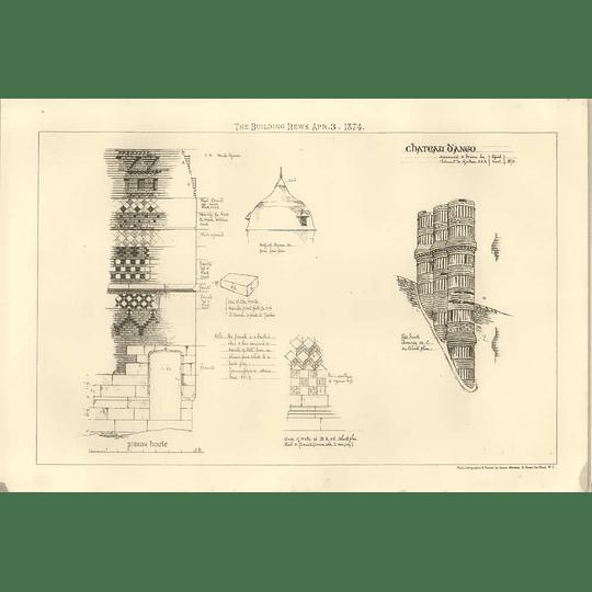 1874 Château D'ango, Pidgeon House, Chimney Brickwork