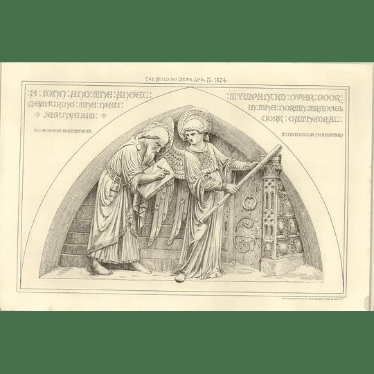 1874 St John And Angel Measuring New Jerusalem North Transept Court Cathedral
