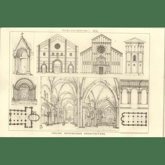 1874 Examples Of Italian Romanesque Architecture