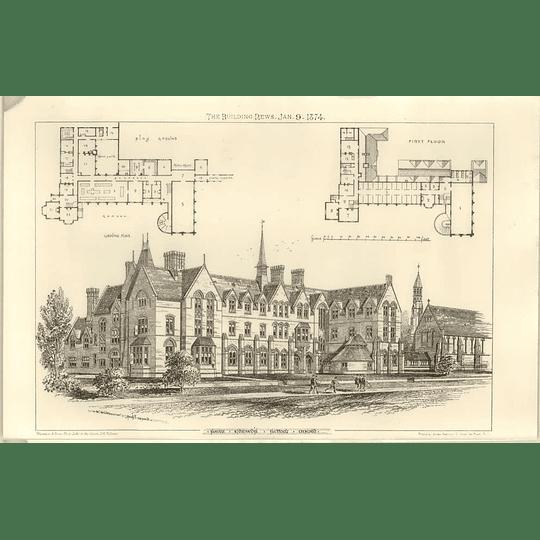 1874 St Edward's School In Oxford, Design, Plan