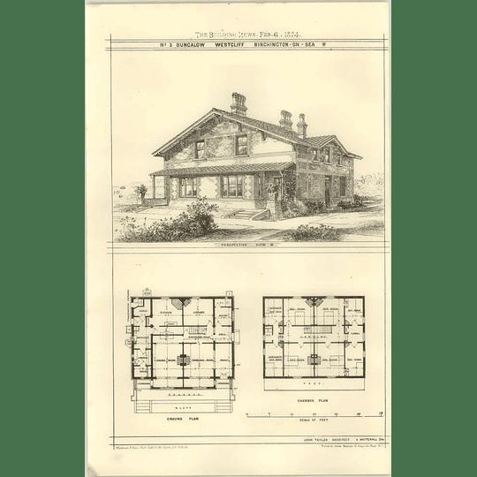 1874 Number Three Bungalow, Westcliff, Birchington-on-sea, Design, Plan