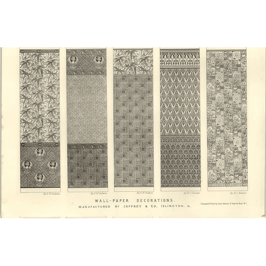 1874 Some Wallpaper Decorations Jeffrey And Co-islington