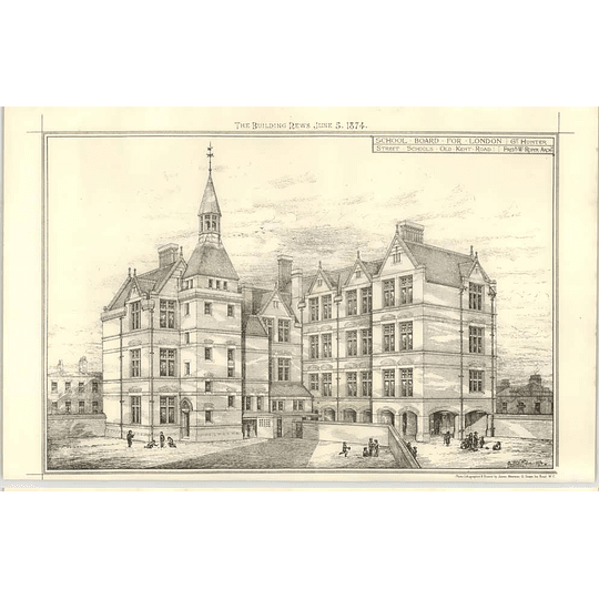 1874 School Board, Street Schools Old Kent Road Hunter Architect