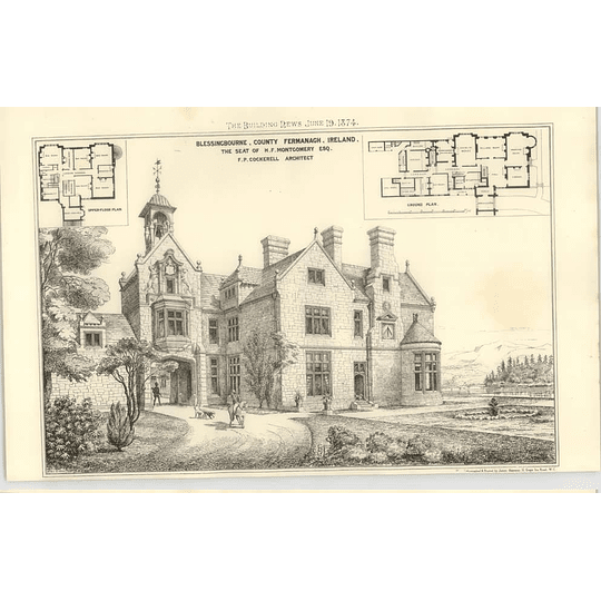 1874 Blessingbourne, County Fermanagh, Seat Of Hf Montgomery