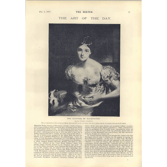 1893 Margarita Power Countess Of Blessington Thomas Lawrence Artwork