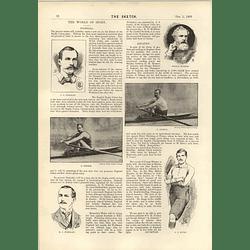 1893 Rugby Union A E Stoddart G Hosmer G Bubear Sculling Match