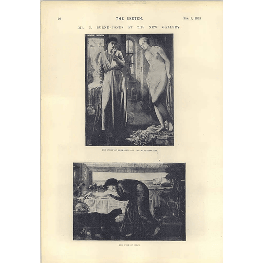 1893 Mr E Burne-jones At The New Gallery