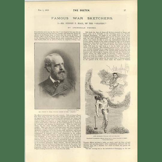 1893 Mr Sidney P Hall Special Artist Graphic War Art