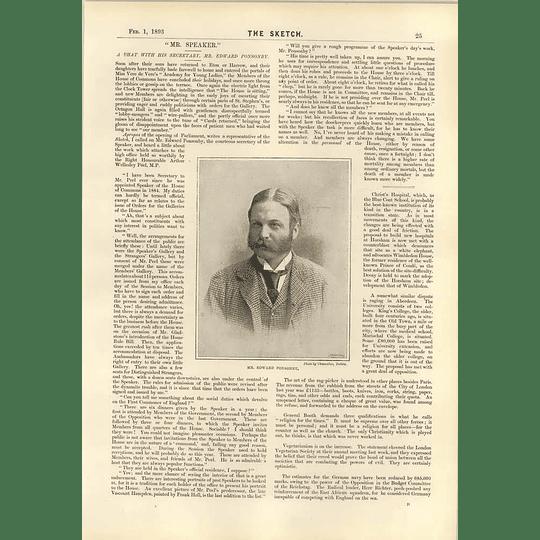 1893 Mr Edward Ponsonby Interview Speaker Secretary Rag Picker Art