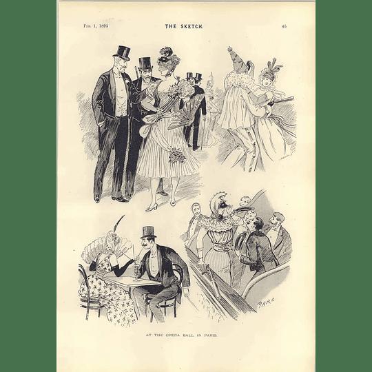 1893 At The Opera Ball In Paris Marks Mr Lamb Shearer Cartoons